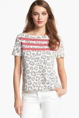 Marc By Marc Jacobs Dita The Cheetah Print Top - Lyst