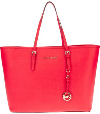 Michael Kors Leather Tote - Lyst