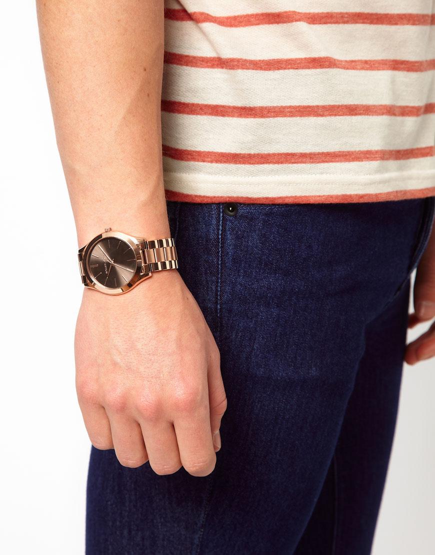 8a191fbbc39c Michael Kors Slim Runway Bracelet Watch 42mm Black - Image Of Bracelet