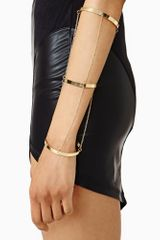 Nasty Gal Chained Up Bangles - Lyst