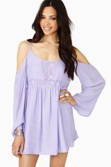 Nasty Gal Meadow Crochet Dress Lilac - Lyst