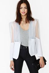 Nasty Gal Sheer Shot Blazer - Lyst
