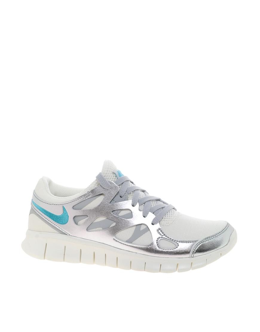 14038e5e673d Lyst - Nike Free Run 2 Prm Ext Silver Trainers in Metallic