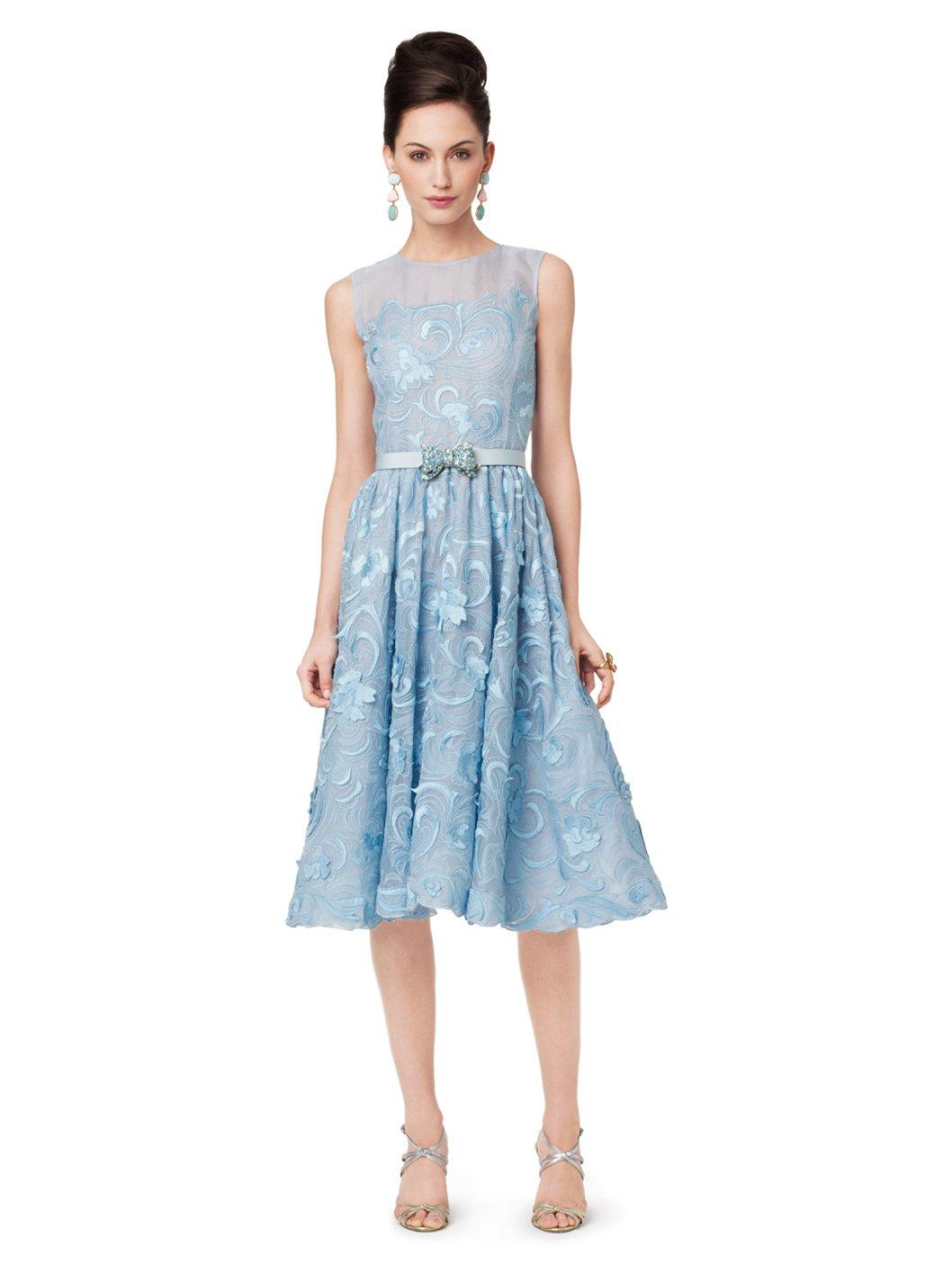 Oscar De La Renta Sleeveless Dress with Gathered Skirt in ...