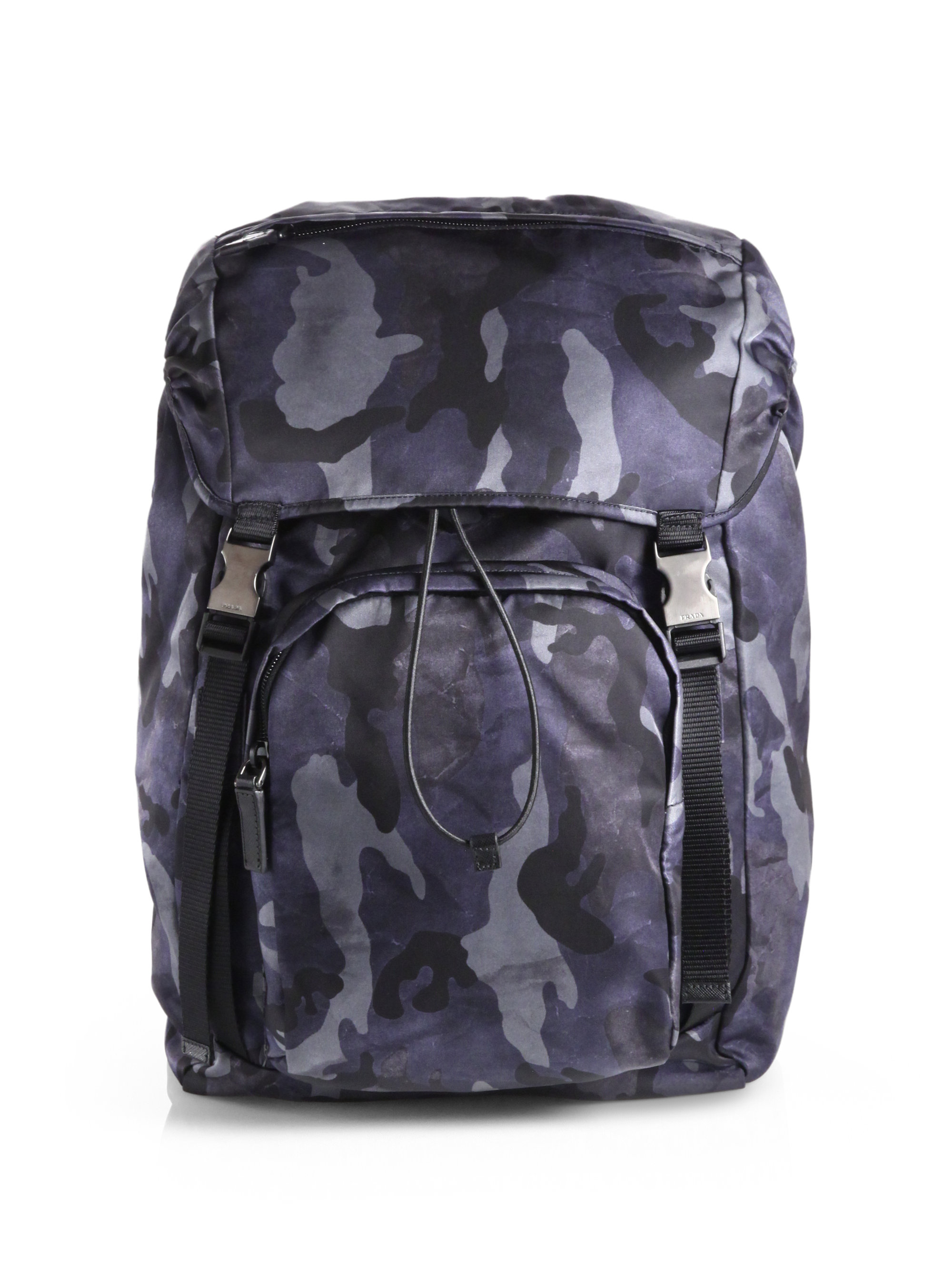 1abcc4ed5e9e ... aliexpress lyst prada zaino camo backpack in blue for men 60634 70574