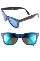 Ray-Ban Folding Wayfarer 50mm Sunglasses - Lyst