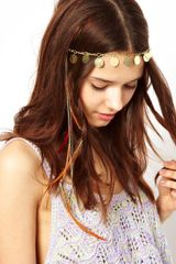 River Island Coin and Feather Head Band - Lyst