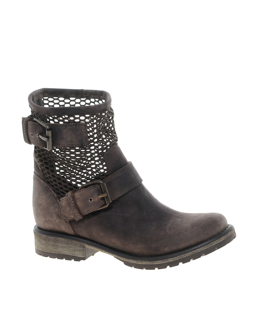 Steve madden Flankm Biker Boots in Brown for Men | Lyst