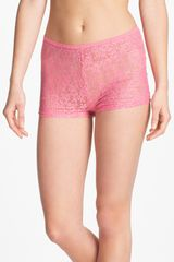 Steve Madden Beneath It All Lace Shorts - Lyst