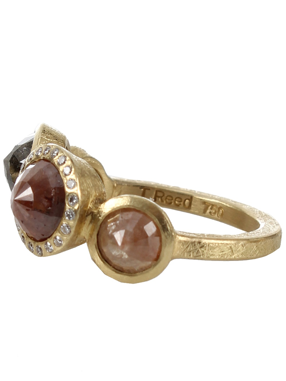 Todd Reed Rose Cut Diamond Ring In Pink Lyst