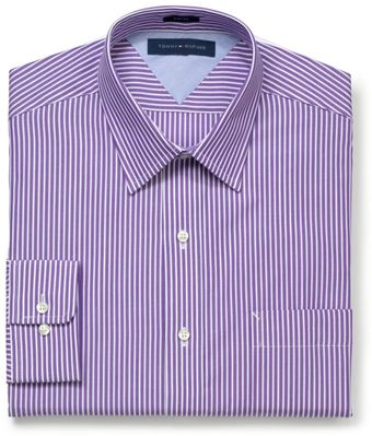 Tommy Hilfiger Slimfit Grape Stripe Longsleeved Shirt - Lyst