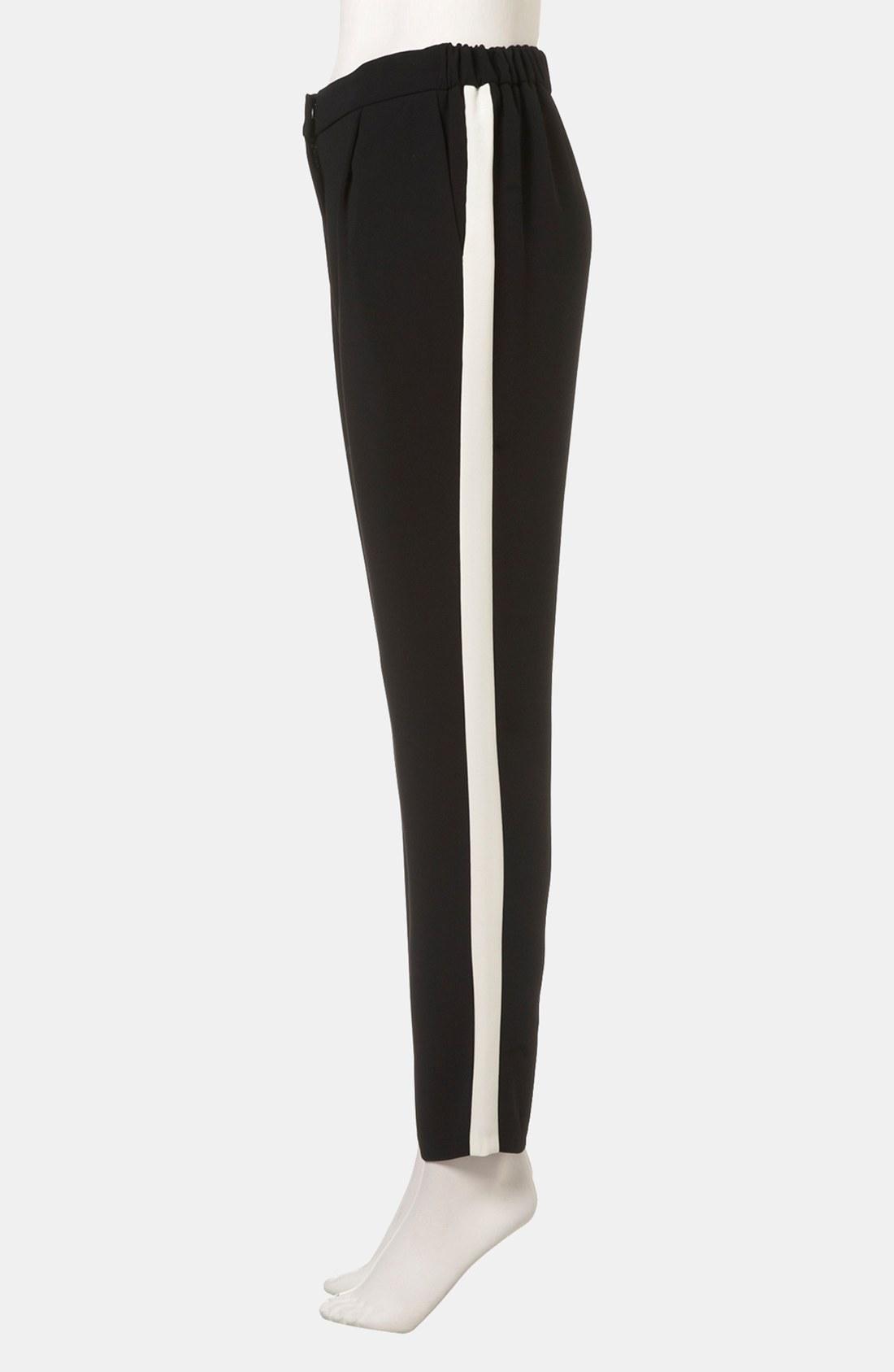 Lyst Topshop Side Stripe Pants In Black