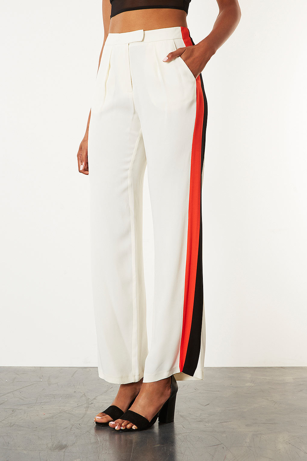 Topshop Womens Wide Leg Striped Trousers - Explore Cheap Price Really Online Cheap Sale Purchase 7NdfSFq
