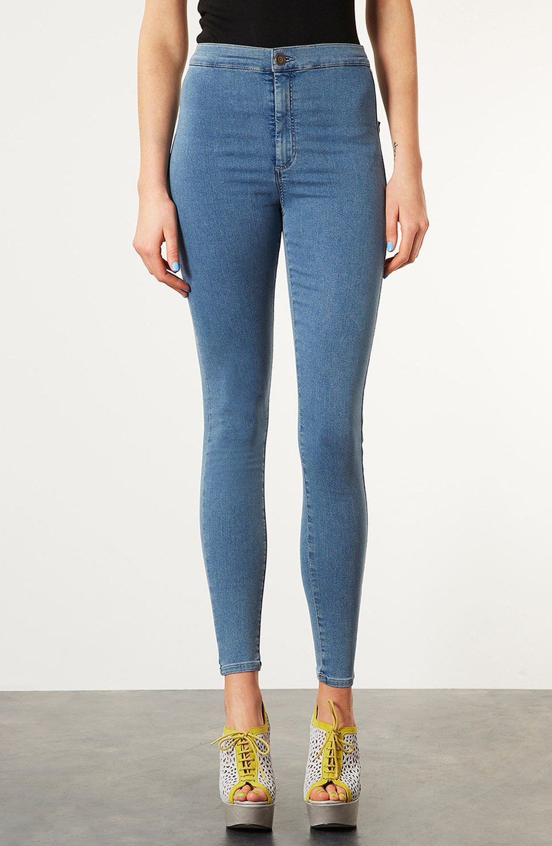 ripped or cropped high waisted jeans for women. high waisted super skinny jeans with side beaded stripes. new / colors