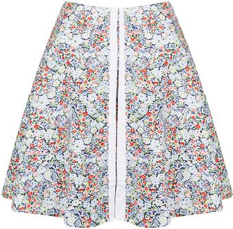 Topshop Floral Hook and Eye Skater - Lyst