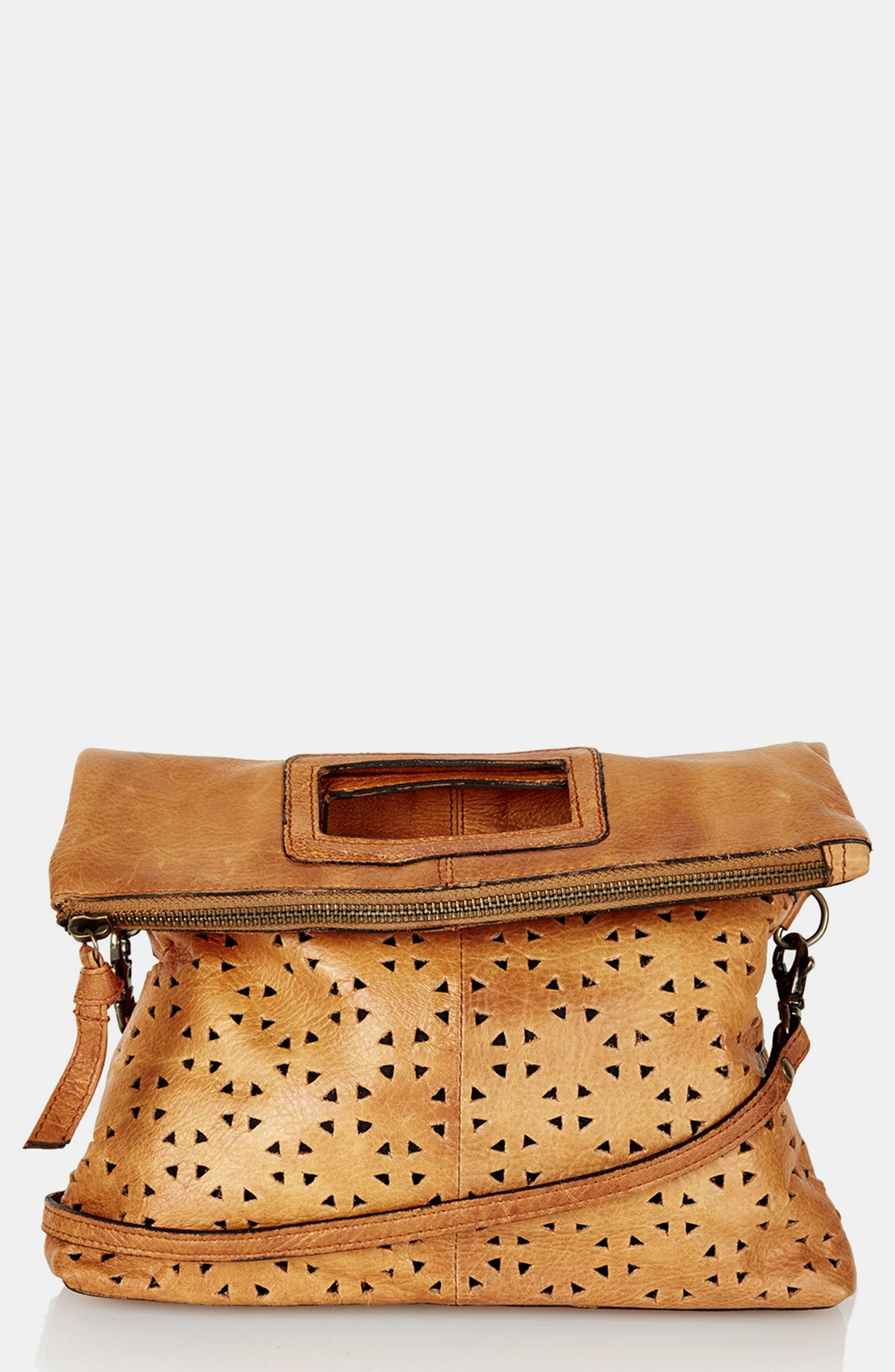 Topshop Perforated Leather Crossbody Bag 96