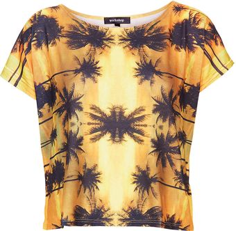 Topshop Palm Tree Tee  - Lyst