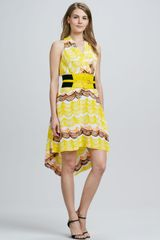 Tracy Reese Halter Printed Highlow Dress - Lyst