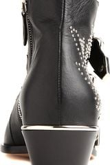 Chloé Banshee Leather Ankle Boots - Lyst