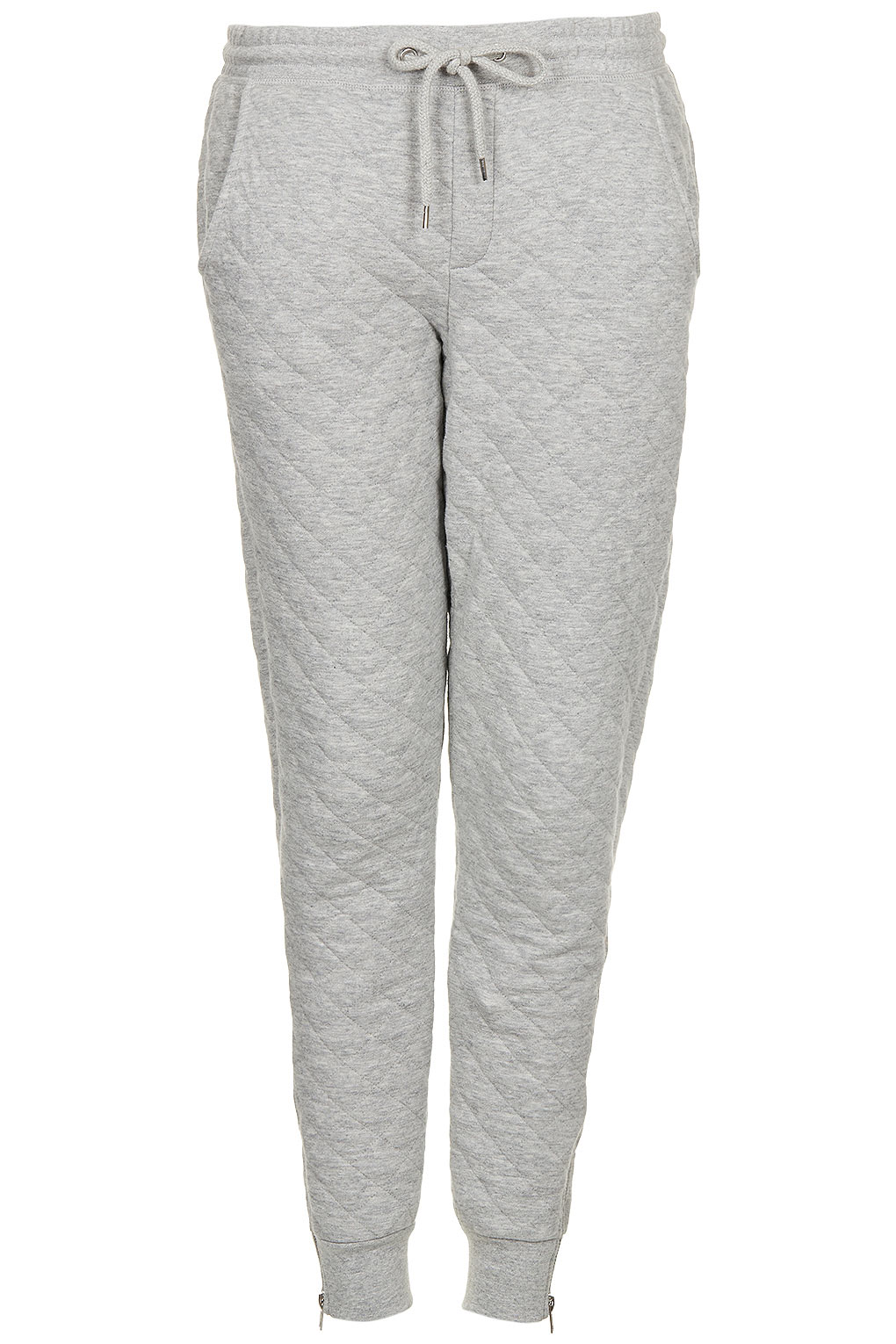 Lyst - Topshop Soft Grey Quilted Joggers in Gray : mens quilted sweatpants - Adamdwight.com