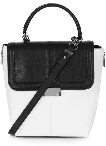 Topshop Pushlock Crossbody Bag - Lyst
