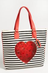 Betsey Johnson Cut It Up Tote - Lyst