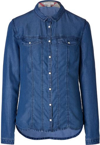 Burberry Brit Jean Shirt in Denim Blue - Lyst