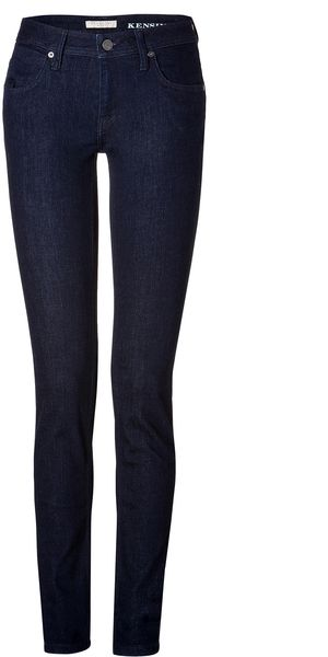 Burberry Brit Stretch Cotton Kensington Jeans in Dark Indigo - Lyst