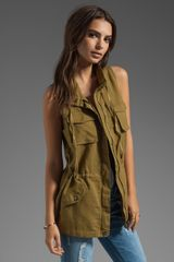 C&c California Linen Cotton Safari Vest in Army - Lyst