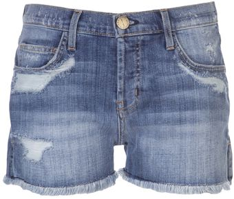 Current/Elliott Destroy Denim Short - Lyst