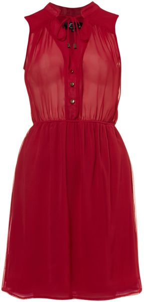 Cutie Sleeveless Shirt Dress - Lyst