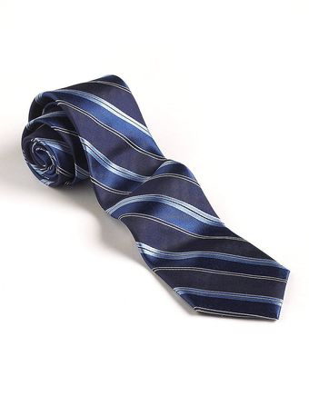 DKNY Striped Silk Tie - Lyst