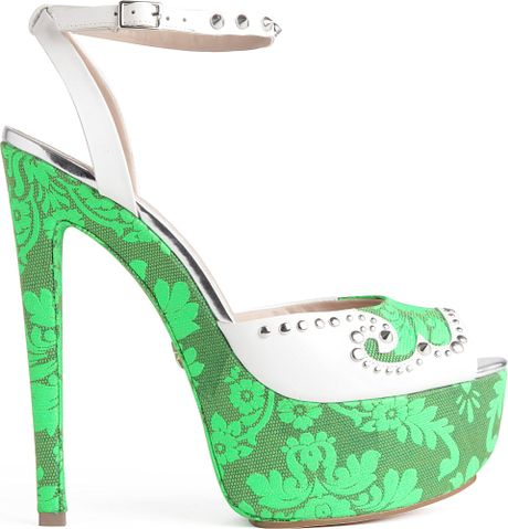 Kg By Kurt Geiger Jessie Platform Sandals in Green (white) - Lyst