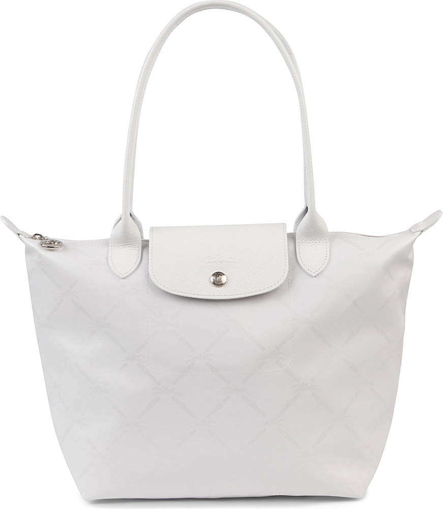 Longchamp Lm Metal Small Shopper in Blanc in White - Lyst 767fd68ea85