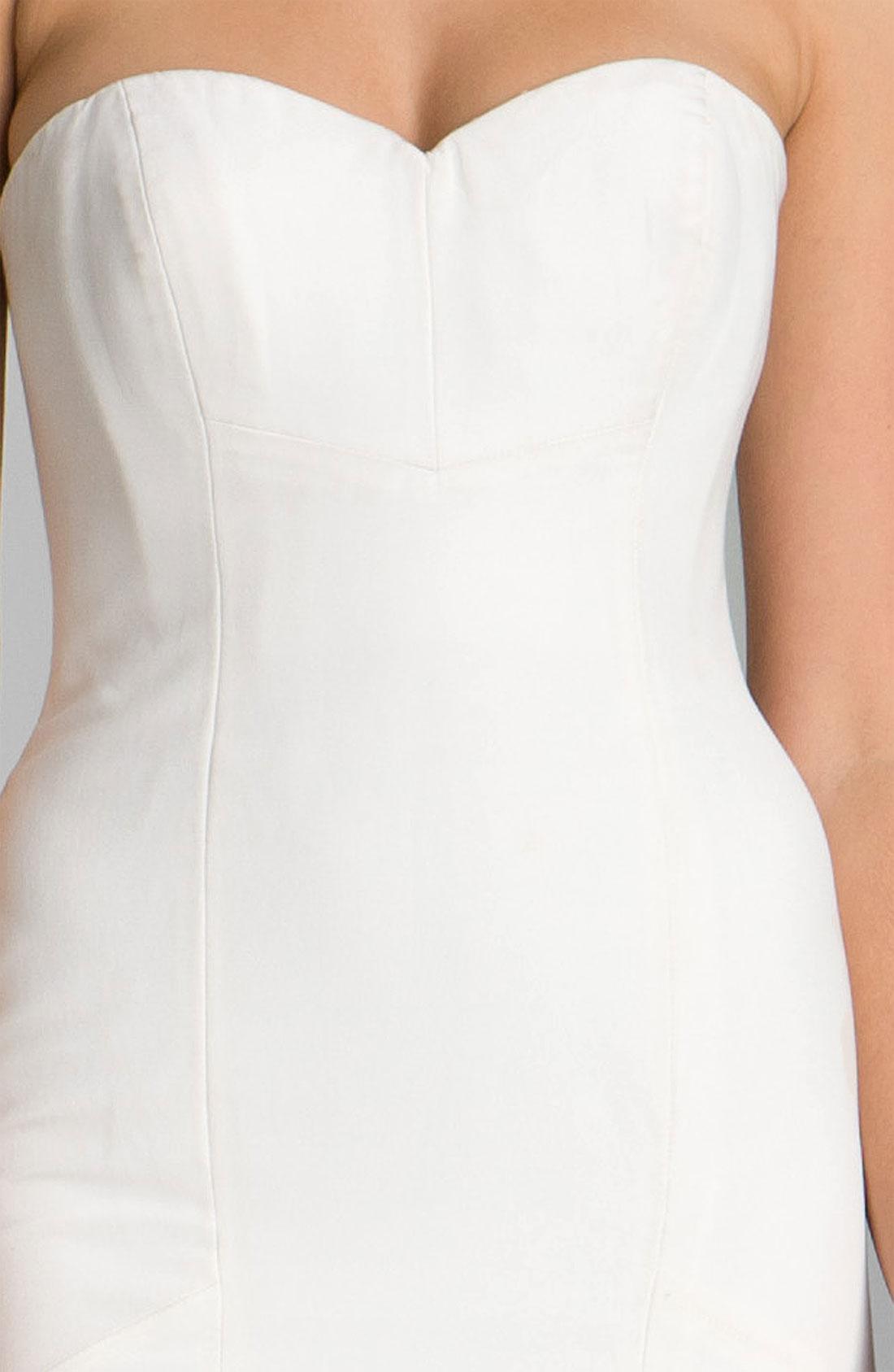 Lyst - Nicole miller Dakota Faille Trumpet Gown in White