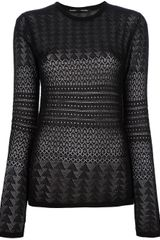 Proenza Schouler Crochet Knit Sheer Sweater - Lyst