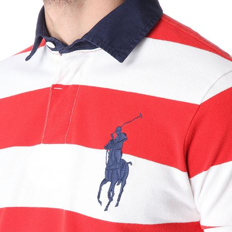 Ralph lauren rose red polo shirt with the color stripes for 6xl ralph lauren polo shirts