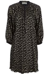 Saint Laurent Metallic Print Dress - Lyst