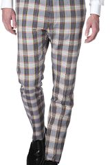 Vivienne Westwood Checked Slim Fit Trousers - Lyst