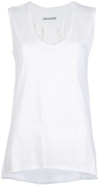 Zadig & Voltaire Dolly Beetle Tank Top - Lyst