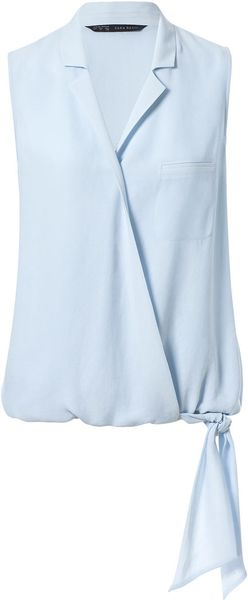Zara Light Blue Blouse 14