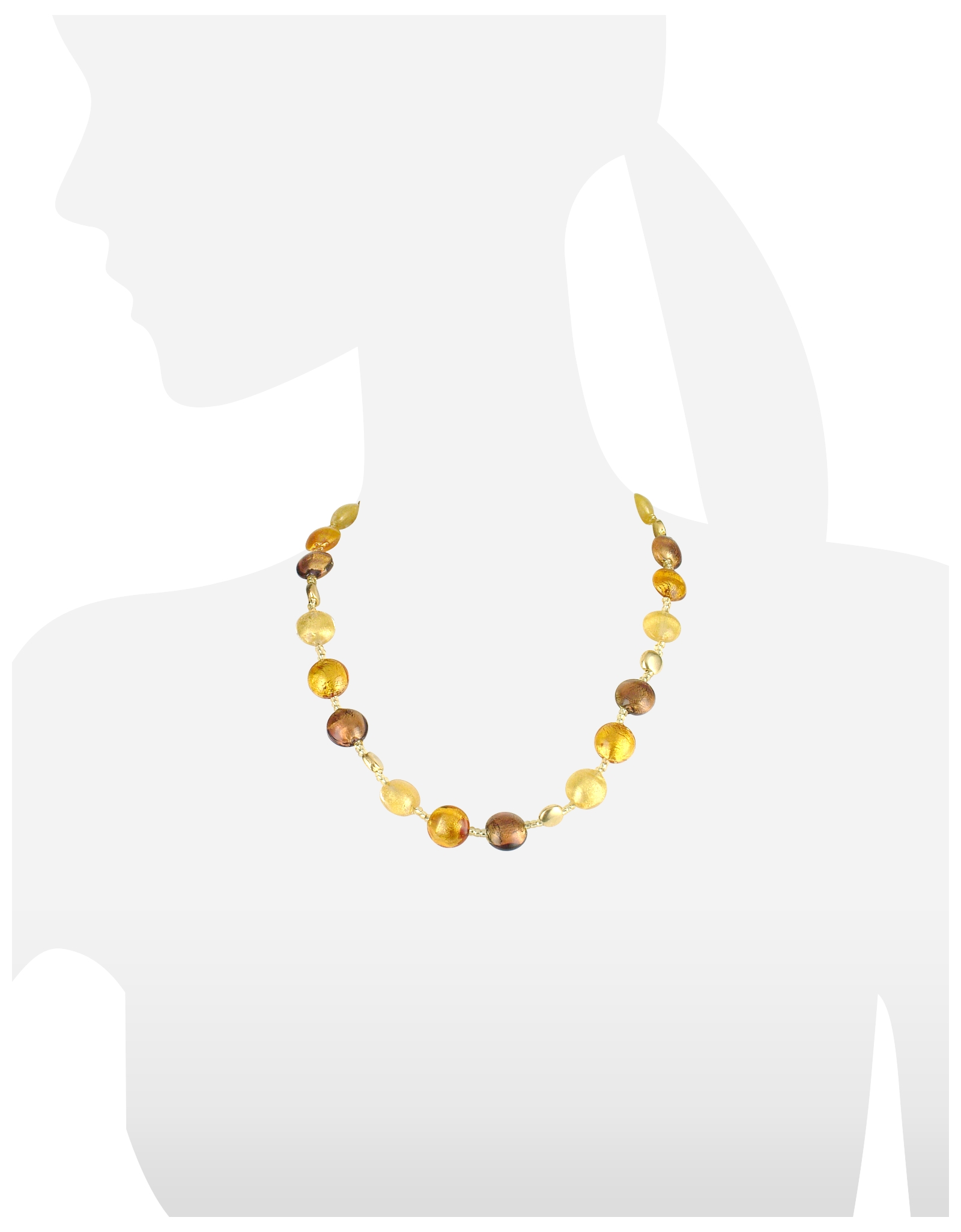 Lyst antica murrina frida murano glass bead necklace in white gallery mozeypictures Choice Image