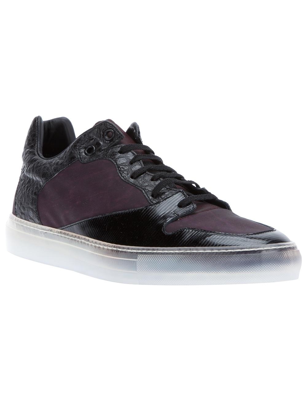 balenciaga textured sneaker in black for men lyst. Black Bedroom Furniture Sets. Home Design Ideas