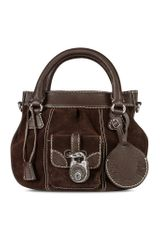Buti Dark Brown Suede and Leather Tote Bag - Lyst