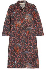 Cacharel Printed Silk poplin Dress - Lyst