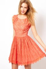Darling Lace Skater Dress - Lyst