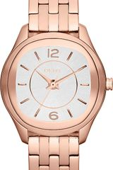 DKNY Womens Rose Gold Ionplated Stainless Steel Bracelet 34mm - Lyst