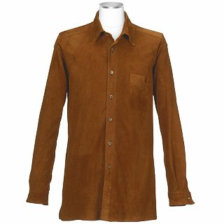 Lyst Forzieri Men S Brown Italian Suede Leather Shirt