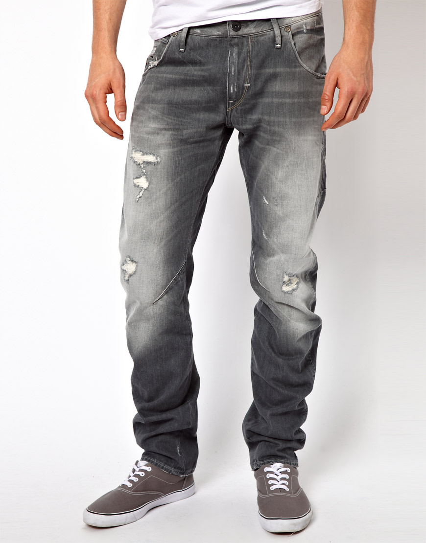 g star raw g star jeans arc 3d slim med aged destroy in. Black Bedroom Furniture Sets. Home Design Ideas