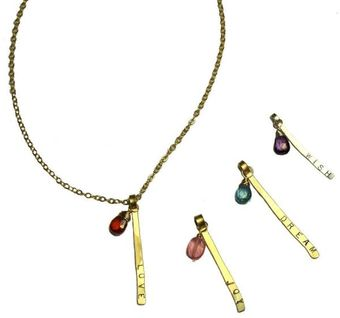 Julie Tuton Jewelry Word Stix Necklaces - Lyst